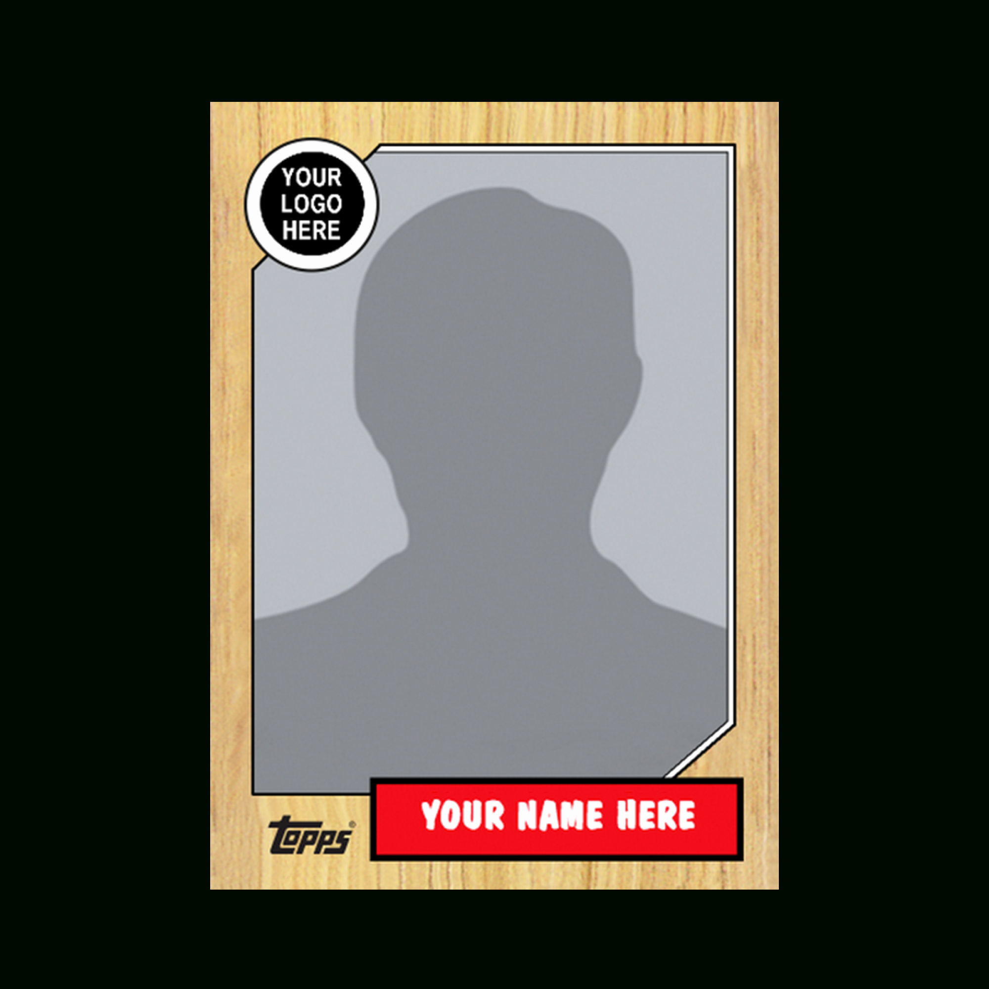 Blank Trading Card Template Lovely Baseball Card Template
