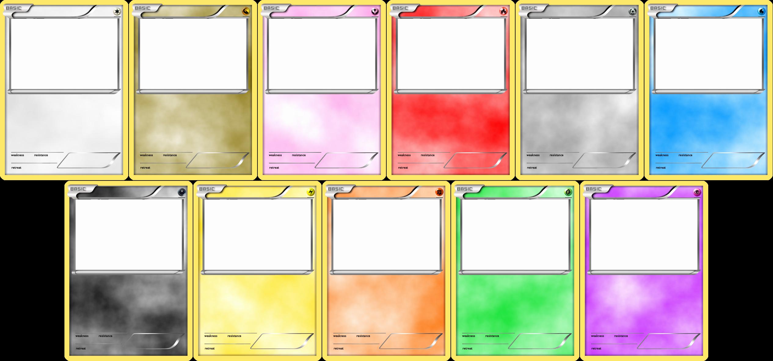 Blank Trading Card Template Luxury Pokemon Blank Card Templates by Levelinfinitum On Deviantart