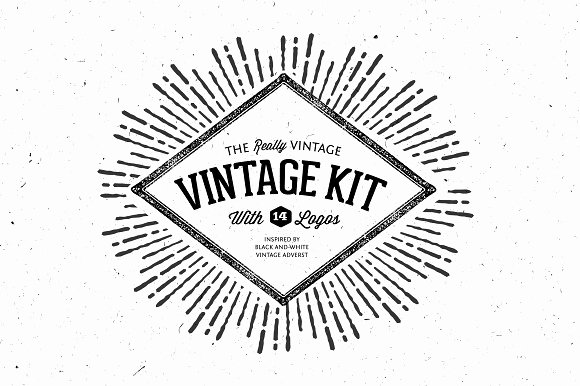 Blank Vintage Logo Template Awesome Very Vintage Vector Kit 14 Logos Objects Creative Market