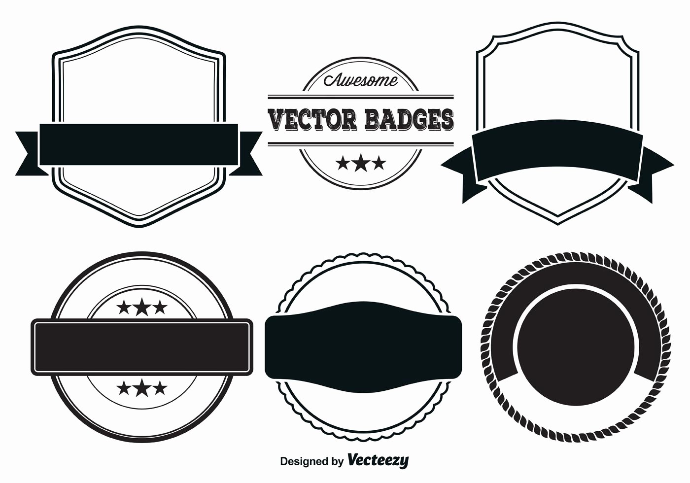 Blank Vintage Logo Template Fresh Vector Badge Templates Download Free Vector Art Stock