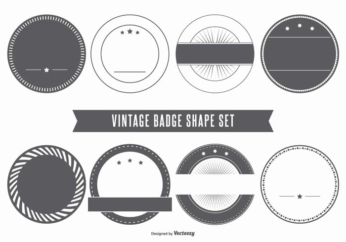Blank Vintage Logo Template Luxury Blank Vintage Badge Shapes Download Free Vector Art