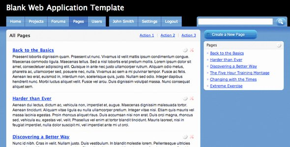 Blank Web Page Template Awesome Blank Web Application Template Site Templates