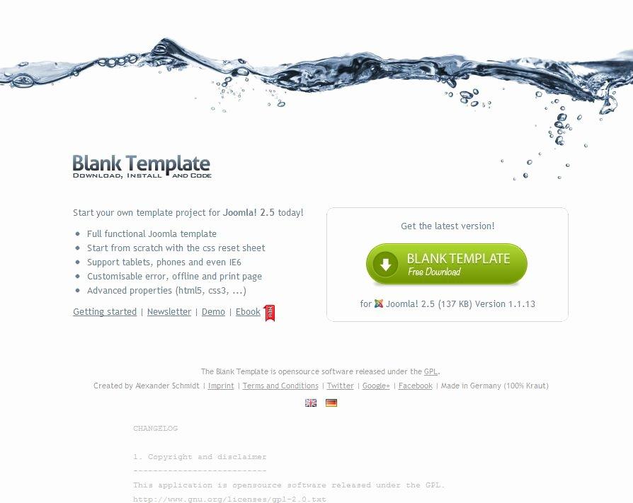 Blank Web Page Template New Plantillas Para Joomla