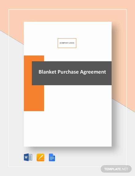 Blanket Purchase Agreement Template Lovely 22 Purchase Agreement Templates Word Pdf Pages
