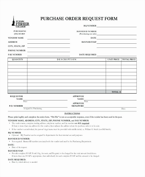 Blanket Purchase order Template Elegant Blanket Purchase order Template forms Free Samples