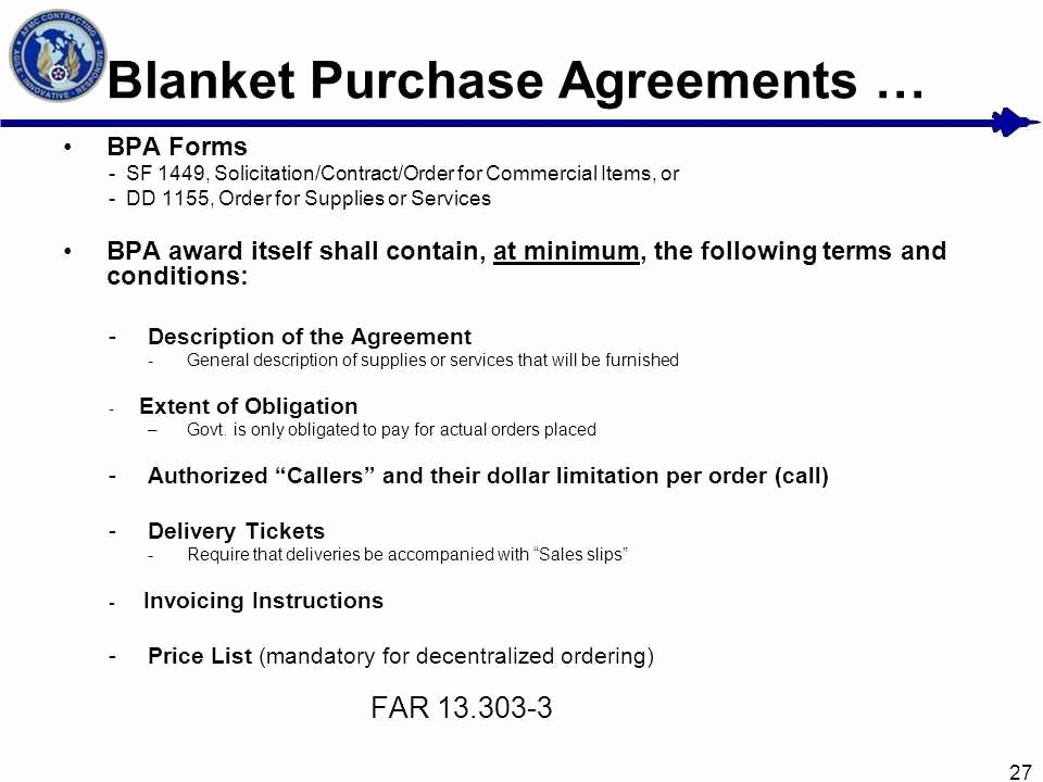 Blanket Purchase order Template Lovely Blanket Purchase Agreement Basic Net Training Simplified
