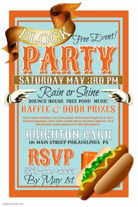 Block Party Flyer Template Awesome Block Party Template