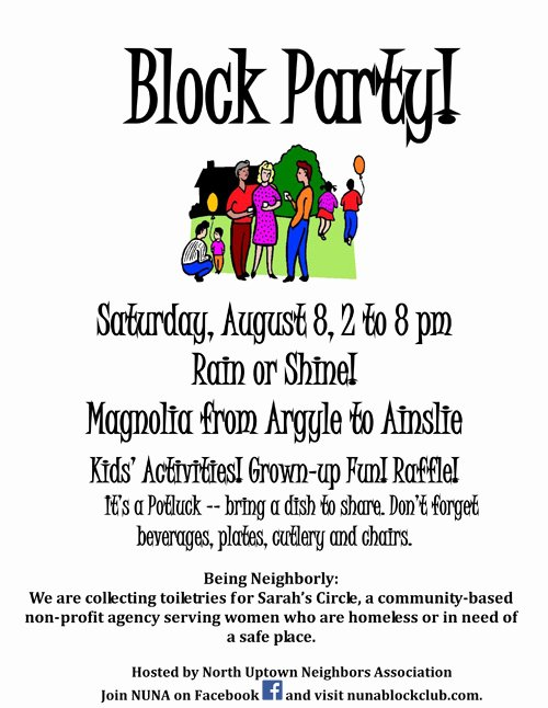 nuna block club block party ing up