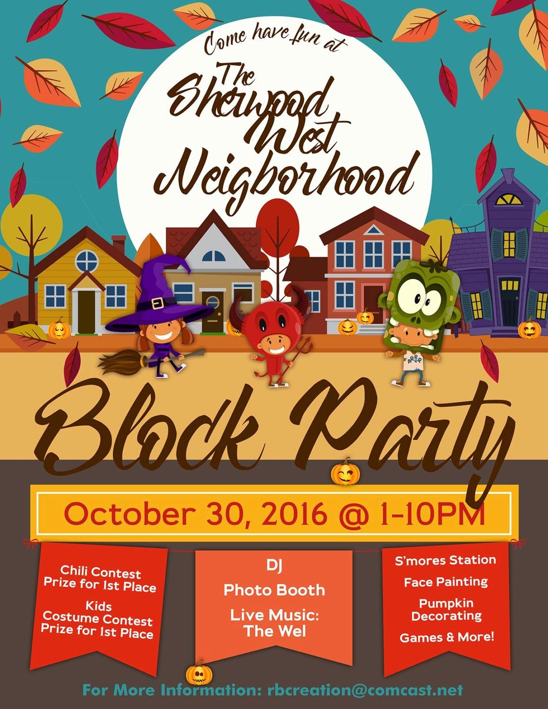 Block Party Flyer Template Elegant Block Party Flyer Halloween Fall Flyer Autumn Flyer Truck