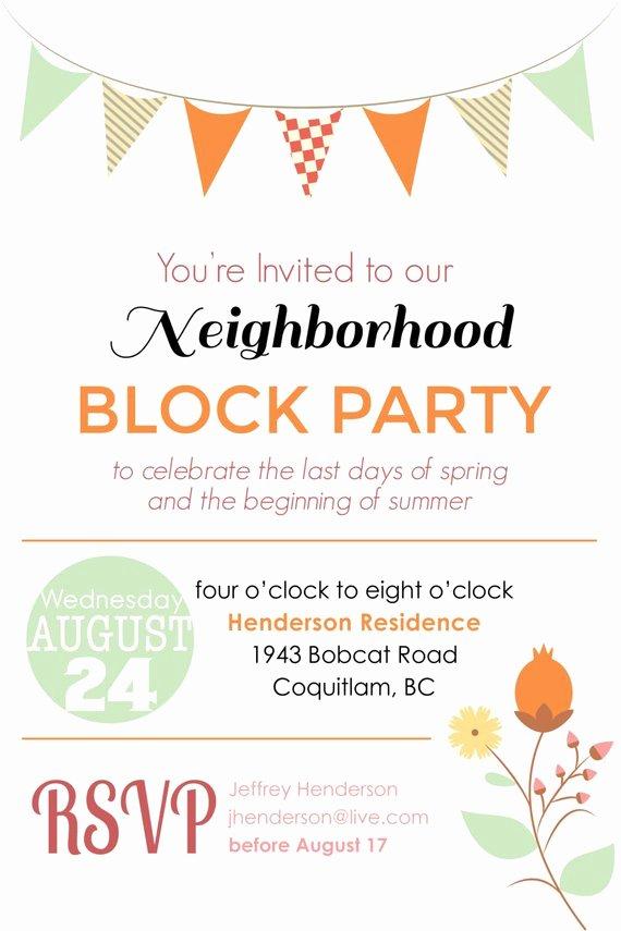 Block Party Flyer Template Inspirational Items Similar to Summer Block Party Backyard Bbq