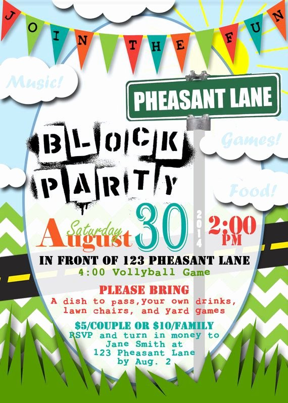 Block Party Flyer Template Luxury 25 Best Ideas About Block Party Invites On Pinterest