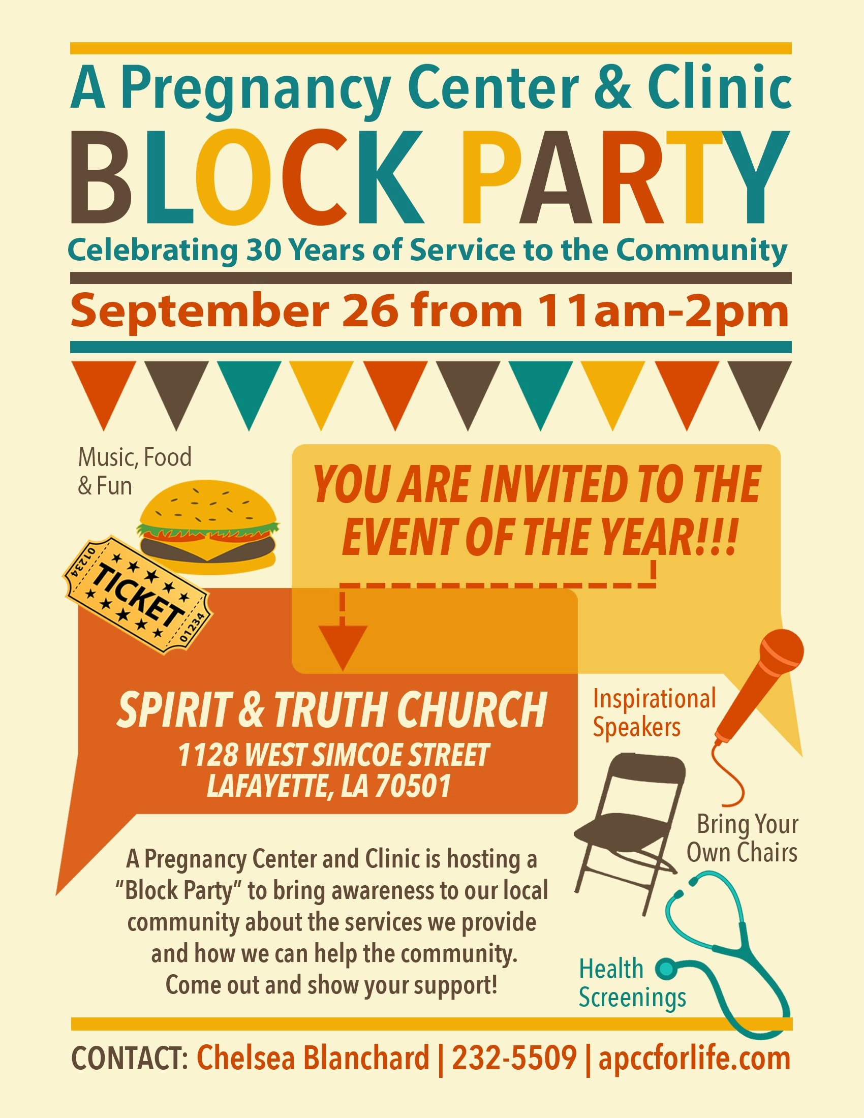 Block Party Flyer Template Luxury A Pregnancy Center and Clinic Block Party