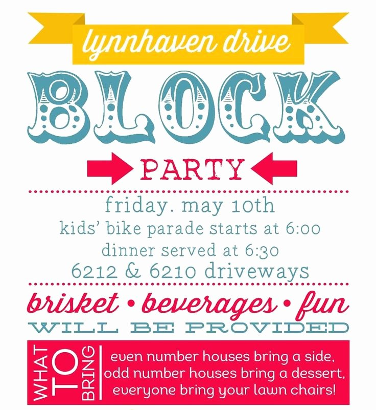 Block Party Flyer Template Luxury Best 25 Block Party Invites Ideas On Pinterest
