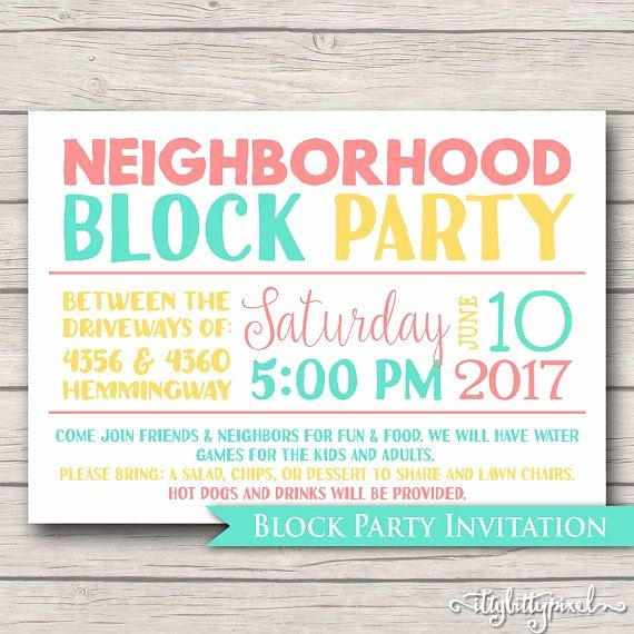 Block Party Invitation Template Awesome Best 25 Block Party Invites Ideas On Pinterest