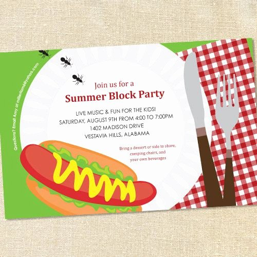 Block Party Invitation Template Beautiful Best 25 Block Party Invites Ideas On Pinterest