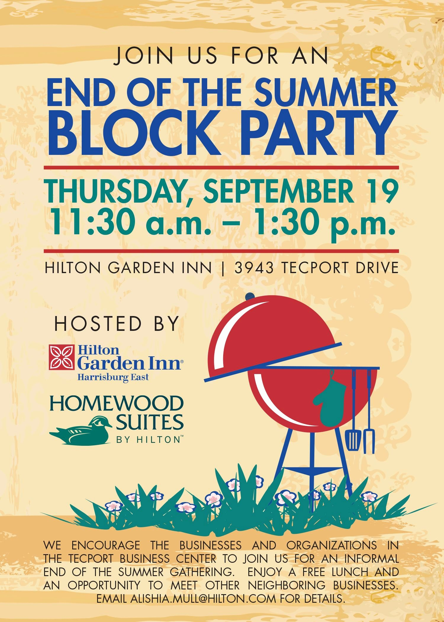 Block Party Invitation Template Beautiful Block Party Invitation for Homewood Suites and Hilton