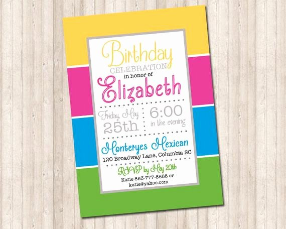 Block Party Invitation Template Elegant Color Block Party Invitation