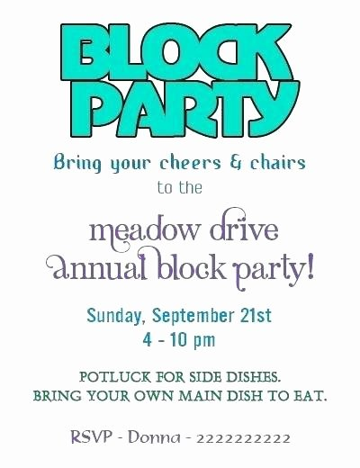 Block Party Invitation Template Elegant Michigan Flyer Collections Page 147 Of 170 the Best