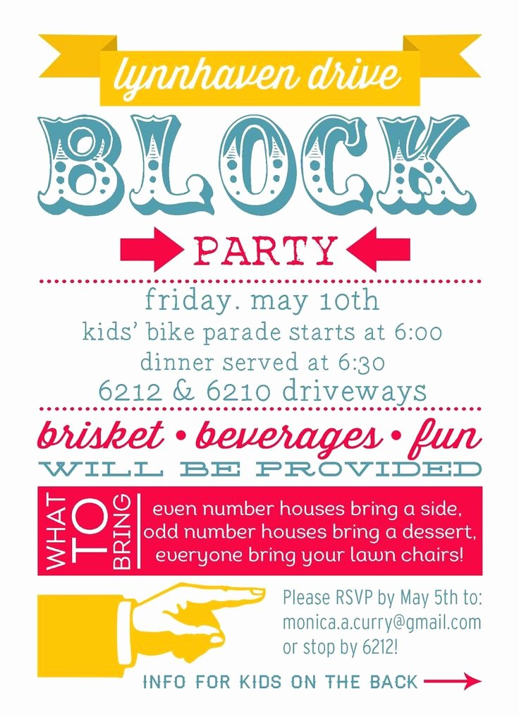 Block Party Invitation Template Inspirational 25 Best Ideas About Block Party Invites On Pinterest