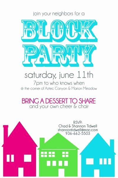 Block Party Invitation Template Inspirational Block Party Invitation Two Peas In A Bucket