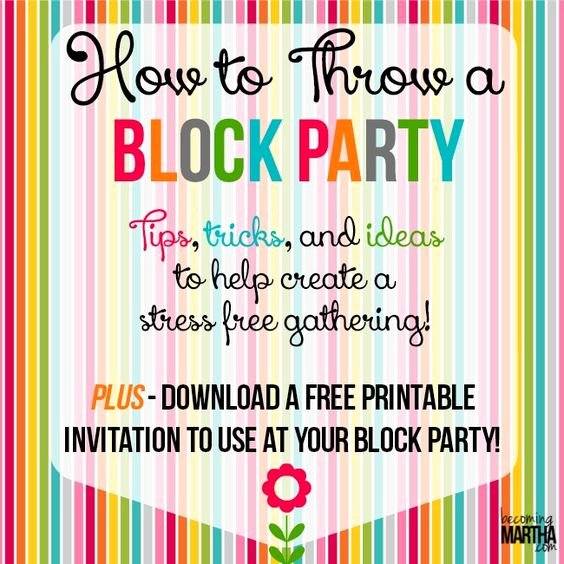 Block Party Invitation Template Lovely How to Throw A Block Party Printable Invitation Template