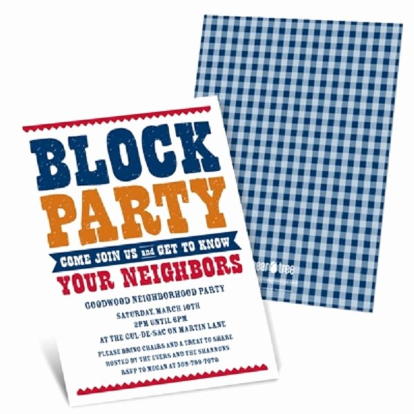 "Block Party Invitation Template Lovely Throw A ""meet the Neighbors"" Party the Celebration society"