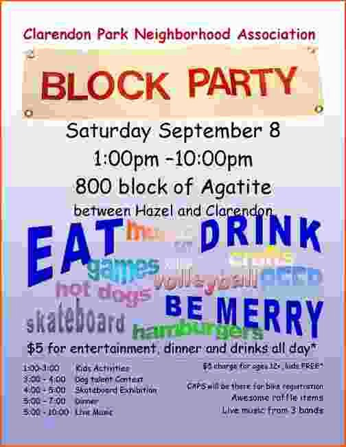 Block Party Invitation Template Unique 4 Block Party Flyer Template Bookletemplate