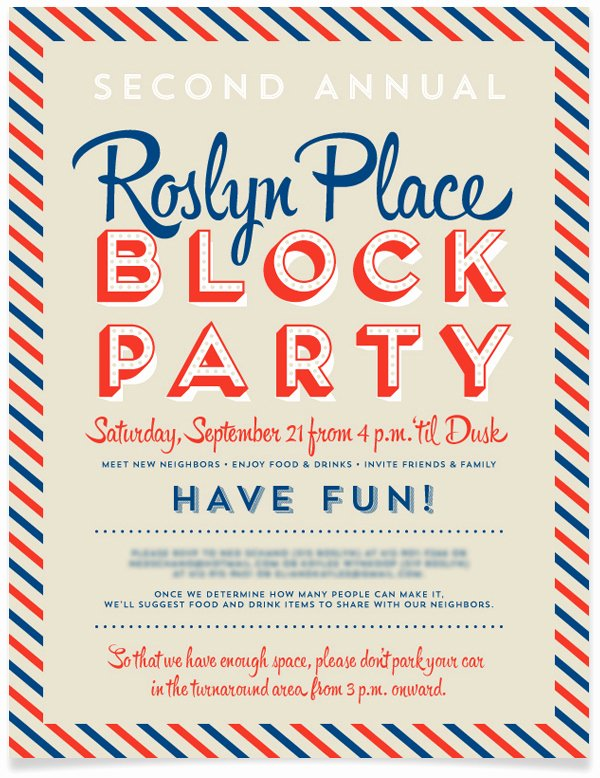 Block Party Invitation Template Unique Block Party Invitation
