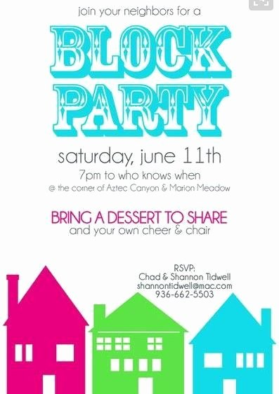 Block Party Invitation Template Unique Pin by Nicole Sweeney Albright On Block Party