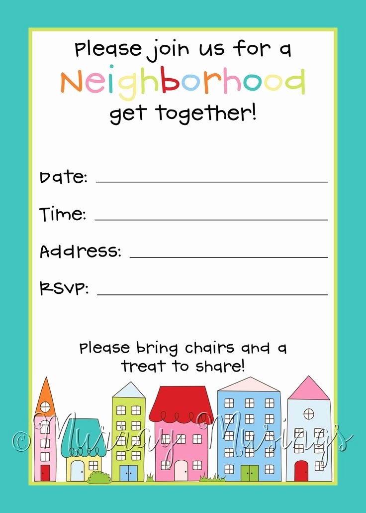 Block Party Invite Template Beautiful Best 25 Block Party Invites Ideas On Pinterest
