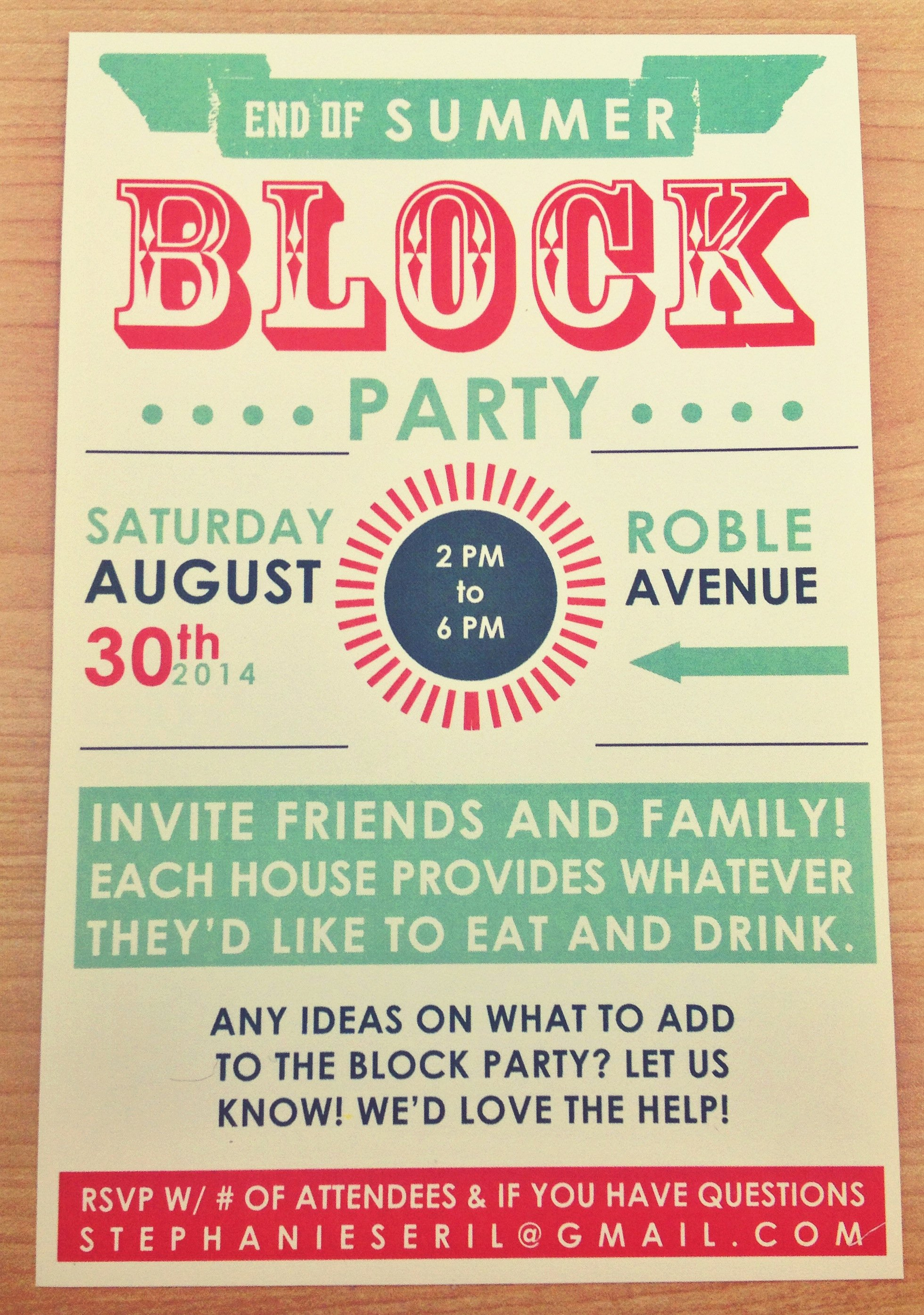 Block Party Invite Template Beautiful End Of Summer Block Party