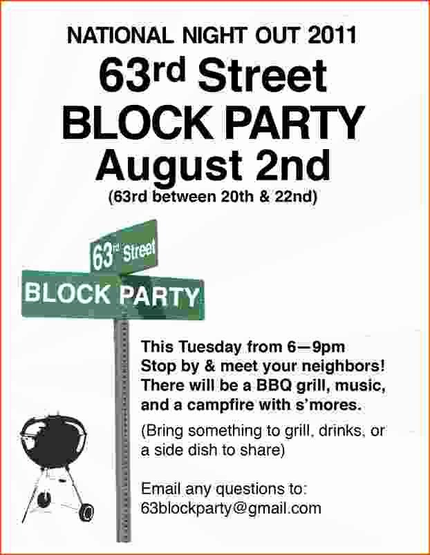 Block Party Invite Template Elegant 4 Block Party Flyer Template Bookletemplate