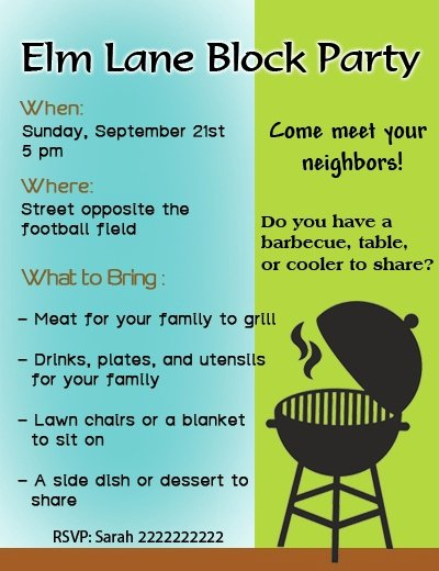 Block Party Invite Template Elegant Simple Tips for Throwing the Most Amazing Block Party Ever