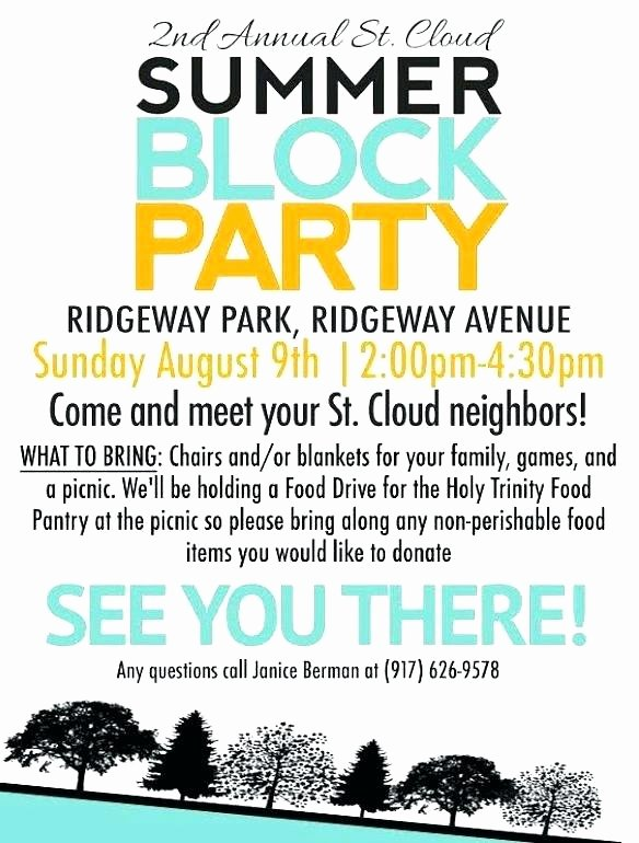 Block Party Invite Template Fresh Block Party Flyer Club Flyers Co Examples – Crazywind