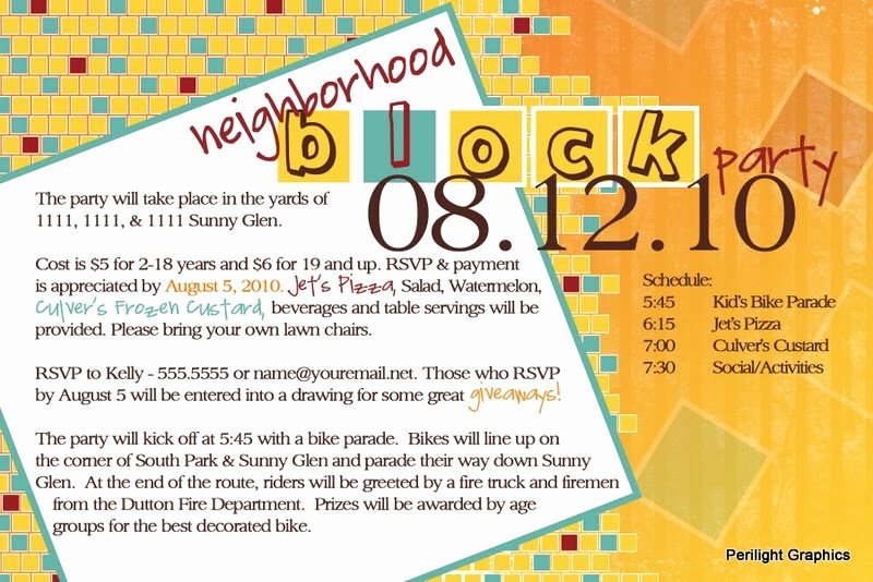 Block Party Invite Template Lovely Invite124