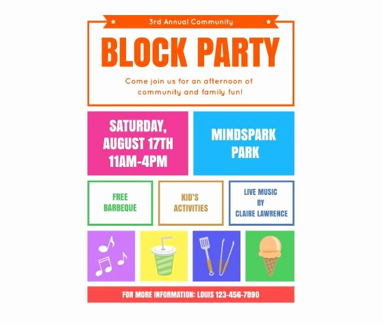 Block Party Invite Template Luxury Download This Block Party Flyer Template and Other Free