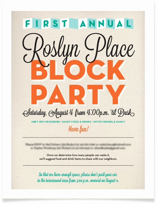 Block Party Invite Template New Block Party Invitation Free Template Baskanai