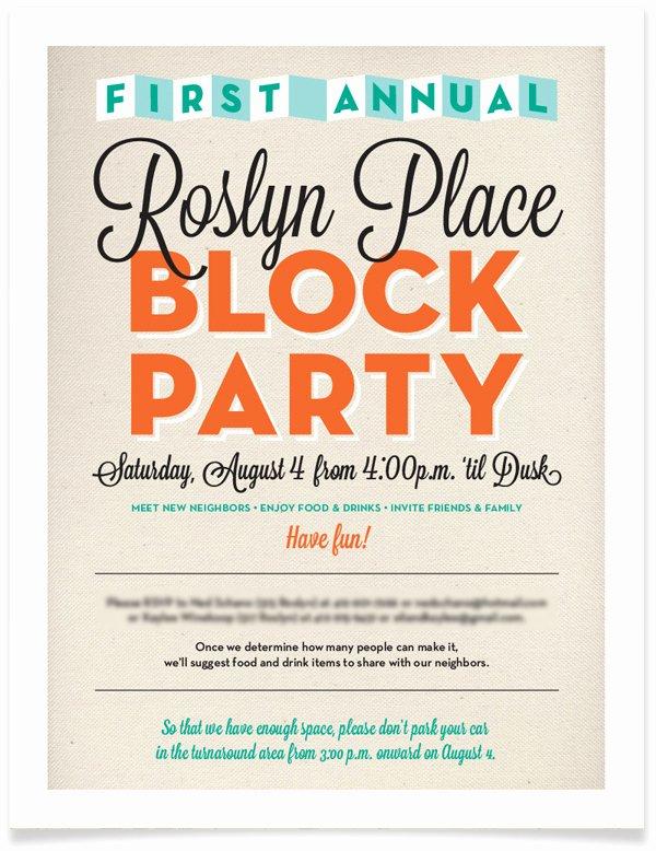 Block Party Invite Template New Block Party Invitation Free Template Baskanai