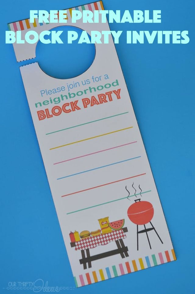 Block Party Invite Template Unique Neighborhood Block Party Invitation Free Printable Our