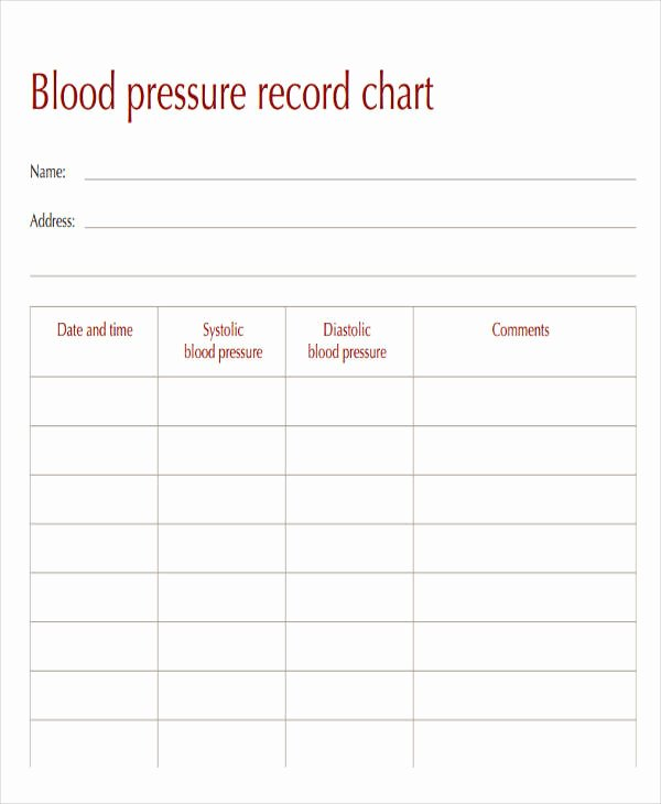 Blood Pressure Charting Template Fresh 47 Printable Chart Templates