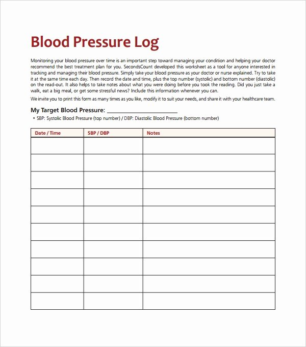Blood Pressure Charting Template Fresh Blood Pressure Log Template – 10 Free Word Excel Pdf