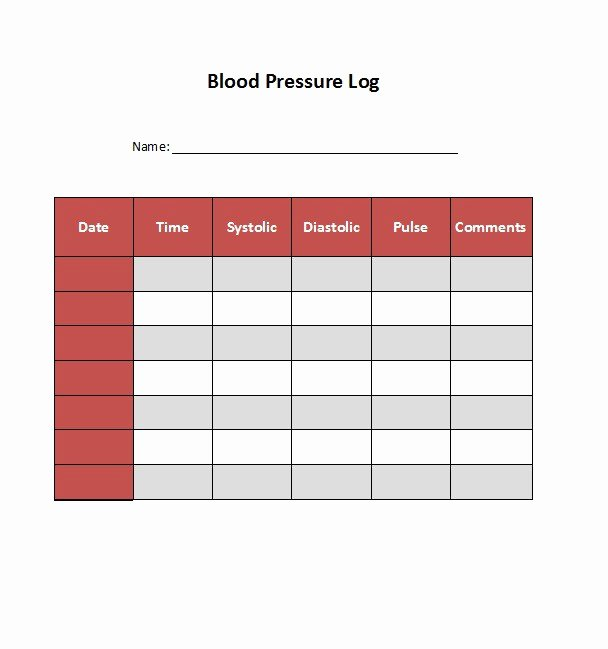 Blood Pressure Logs Template Elegant 30 Printable Blood Pressure Log Templates Template Lab