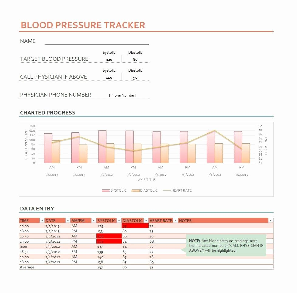 Blood Pressure Logs Template Inspirational 30 Printable Blood Pressure Log Templates Template Lab