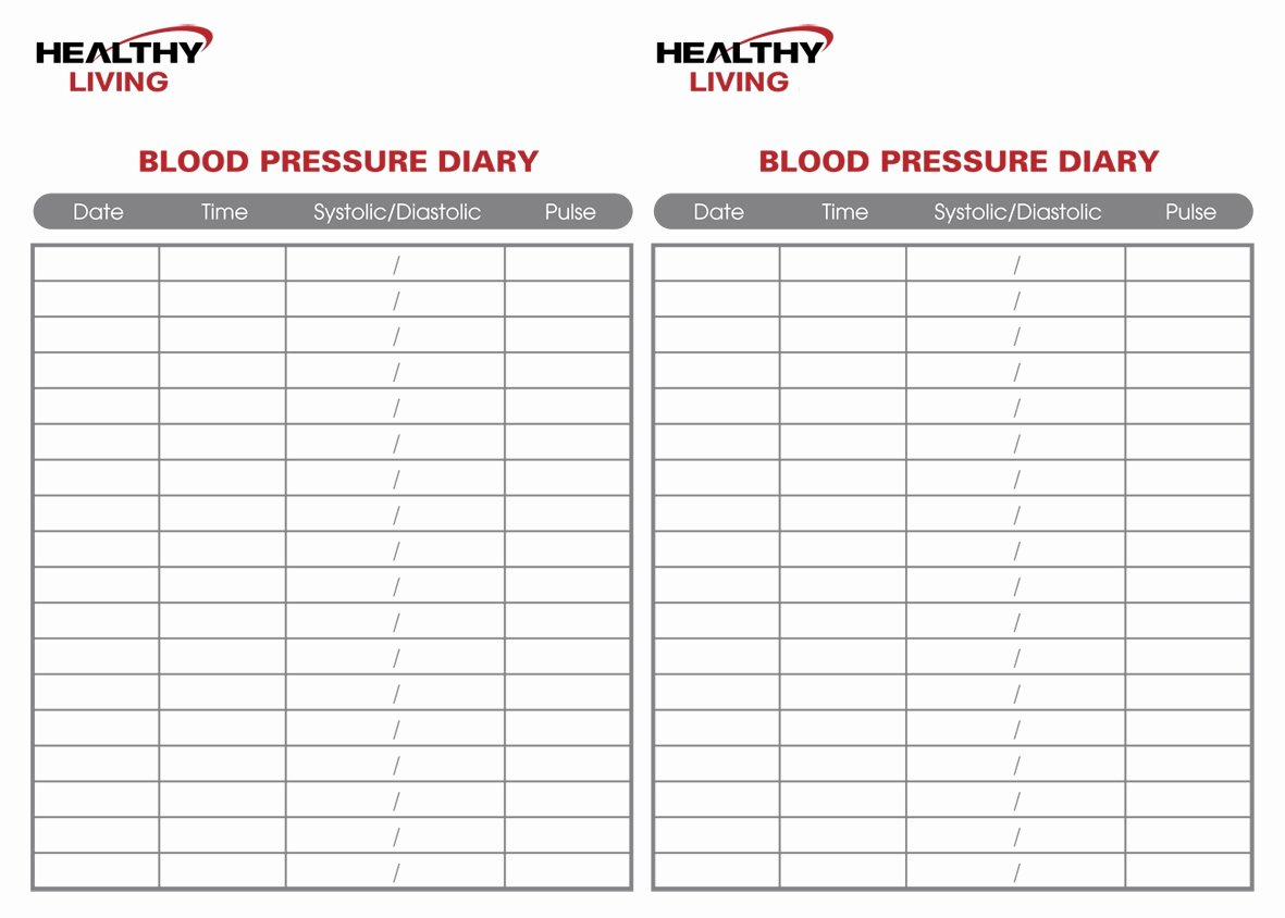 Blood Pressure Logs Template New 19 Blood Pressure Chart Templates Easy to Use for Free