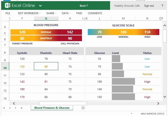 Blood Pressure Tracker Template Fresh Blood Pressure and Glucose Tracker for Excel