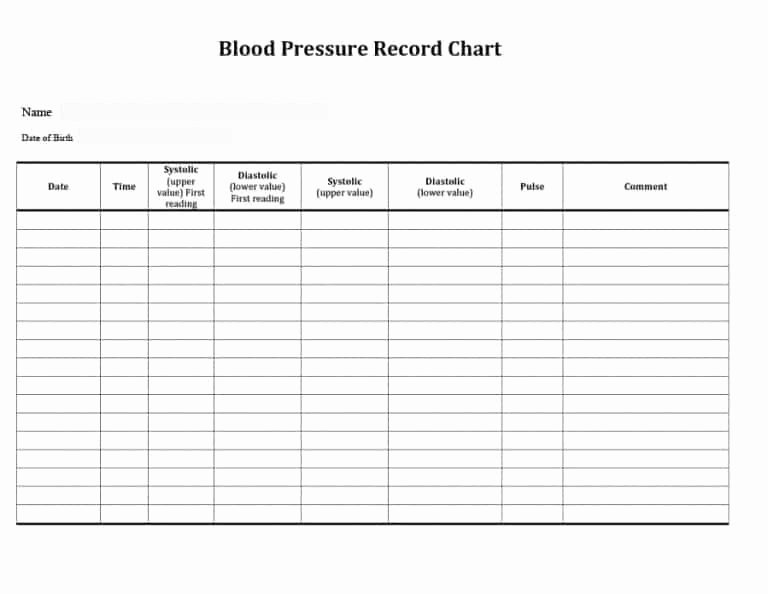 Blood Pressure Tracker Template Inspirational Printable Blood Pressure and Pulse Log