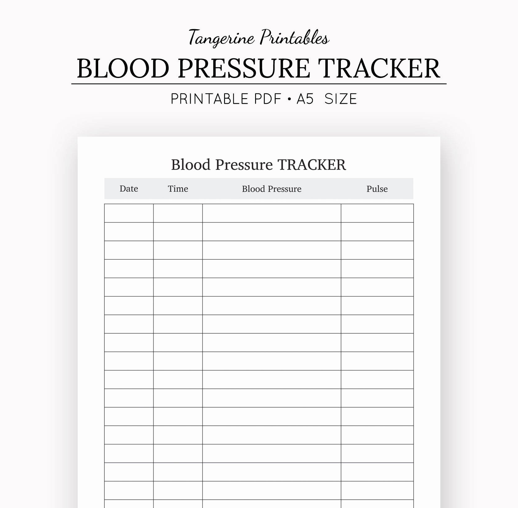Blood Pressure Tracker Template New Blood Pressure Tracker Health Journal A5 Insert A5
