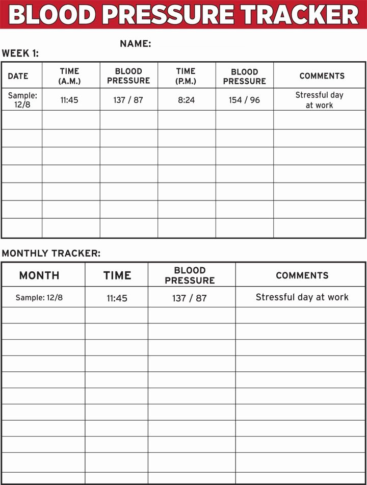 Blood Pressure Tracker Template Unique High Blood Pressure Ems Pinterest