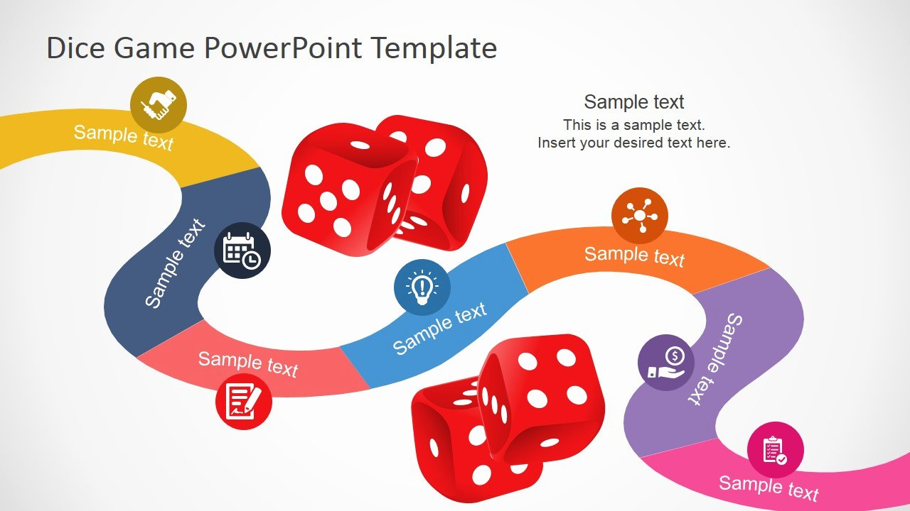 Board Game Template Powerpoint Awesome Board Game Powerpoint Template Slidemodel