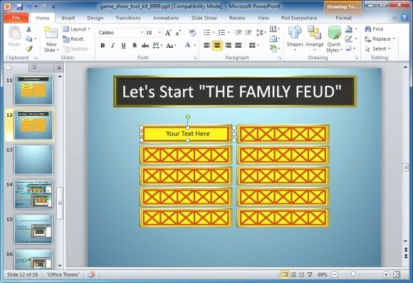 Board Game Template Powerpoint Beautiful Family Feud Powerpoint Template